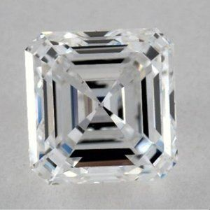 0.50 Carats Asscher Diamond loose F VVS2 Very Good